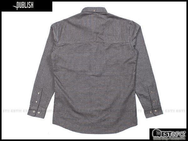 【EST】PUBLISH ABE 條紋 長袖 襯衫 [PL-5094-065] 卡其 S~L E0930 1