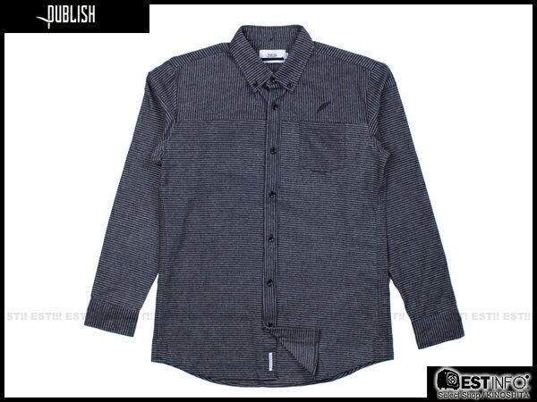 【EST】PUBLISH ABE 條紋 長袖 襯衫 [PL-5094-086] 深藍 S~L E0930 0