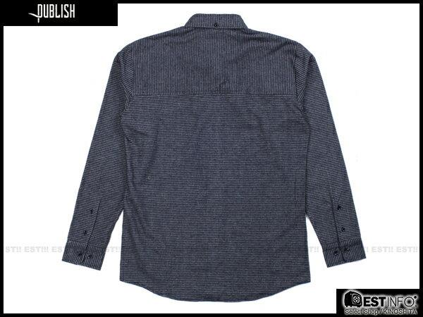 【EST】PUBLISH ABE 條紋 長袖 襯衫 [PL-5094-086] 深藍 S~L E0930 1