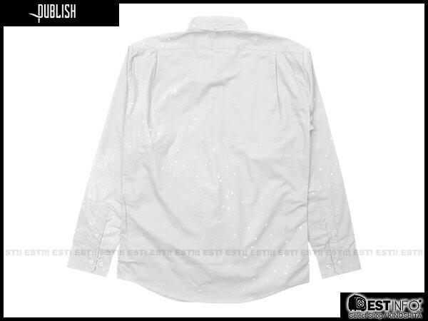 【EST】Publish Eris 3M反光 流星 點點 長袖 襯衫 [PL-5096-001] 白 S~L E0930 1