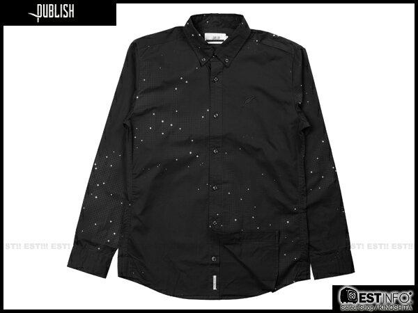 【EST】PUBLISH ERIS 3M反光 流星 點點 長袖 襯衫 [PL-5096-002] 黑 S~L E0930 0