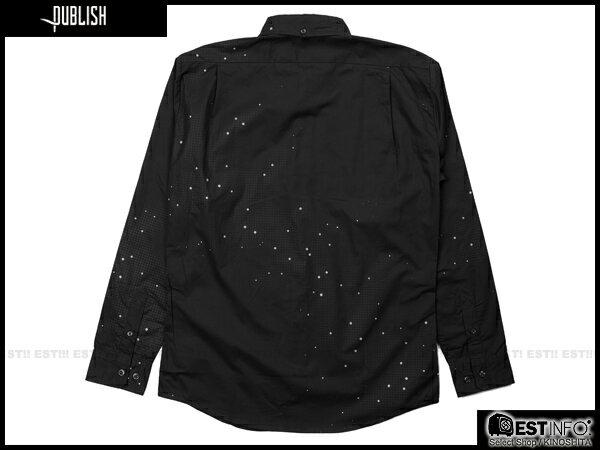 【EST】PUBLISH ERIS 3M反光 流星 點點 長袖 襯衫 [PL-5096-002] 黑 S~L E0930 1
