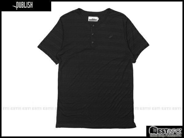 【EST】PUBLISH BAST TEE 條紋 三排扣 短TEE [PL-5098-002] 黑 S~L E0930 0