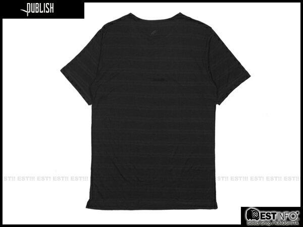 【EST】PUBLISH BAST TEE 條紋 三排扣 短TEE [PL-5098-002] 黑 S~L E0930 1