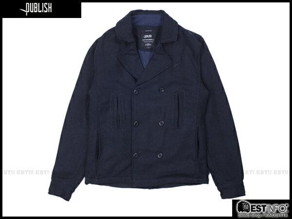 【EST】Publish Nelson 厚磅 海軍風 雙排扣 外套 [PL-5105-086] 深藍 S~L E0930 0