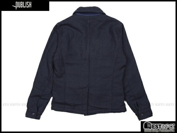 【EST】Publish Nelson 厚磅 海軍風 雙排扣 外套 [PL-5105-086] 深藍 S~L E0930 1