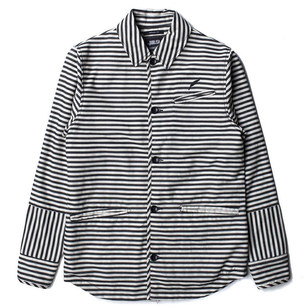 【EST】PUBLISH ANDRES JACKET 條紋 襯衫 外套 黑 [PL-5214-002] S~L E1127 0