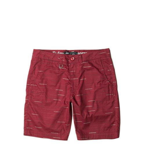 【EST】Publish Fable 條紋 工作褲 短褲 五分褲 [PL-5259-072] 紅w28~32 F0221 0