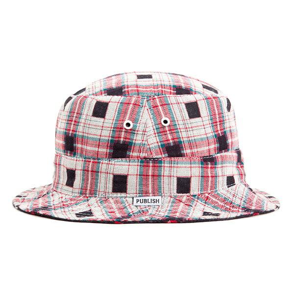 【EST】PUBLISH NICOLO 拼接 格紋 雙面 漁夫帽 黑 [PL-5294-002] F0417 1