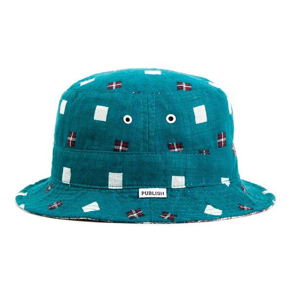 【EST】Publish Nicolo 拼接 格紋 雙面 漁夫帽 藍 [PL-5294-085] F0417 0