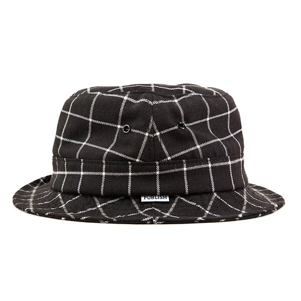 【EST】PUBLISH CALLAWAY 格紋 漁夫帽 黑 [PL-5303-002] F0417 0