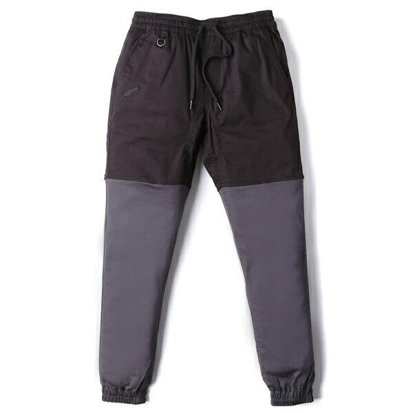 【EST】PUBLISH TWO-TONE JOGGER PANTS 束口褲 黑 炭灰 [PL-5306-002] F0508 0