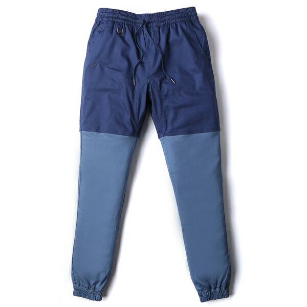 【EST】Publish Two-Tone Jogger Pants 束口褲 深藍 淺藍 [PL-5309-086] F0508 0