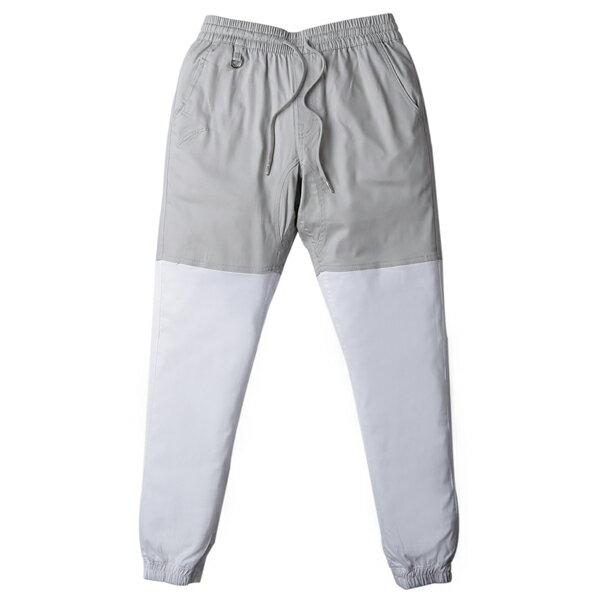 【EST】PUBLISH TWO-TONE JOGGER PANTS 束口褲 灰 白 [PL-5312-007] F0508 0
