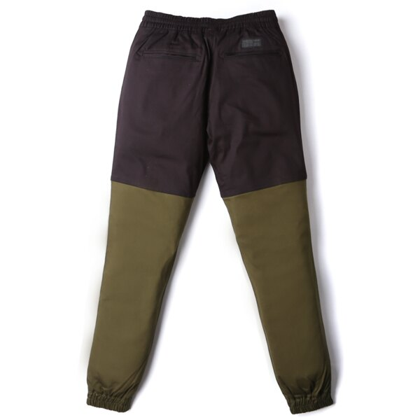 【EST】Publish Two-Tone Jogger Pants 束口褲 黑 墨綠 [PL-5313-002] F0508 1
