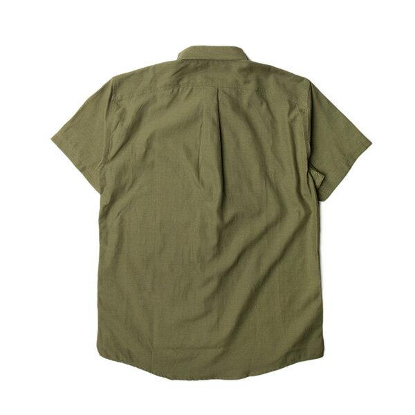 【EST】Publish Dingo 素面 短袖 襯衫 墨綠 [PL-5316-035] S~L F0529 1