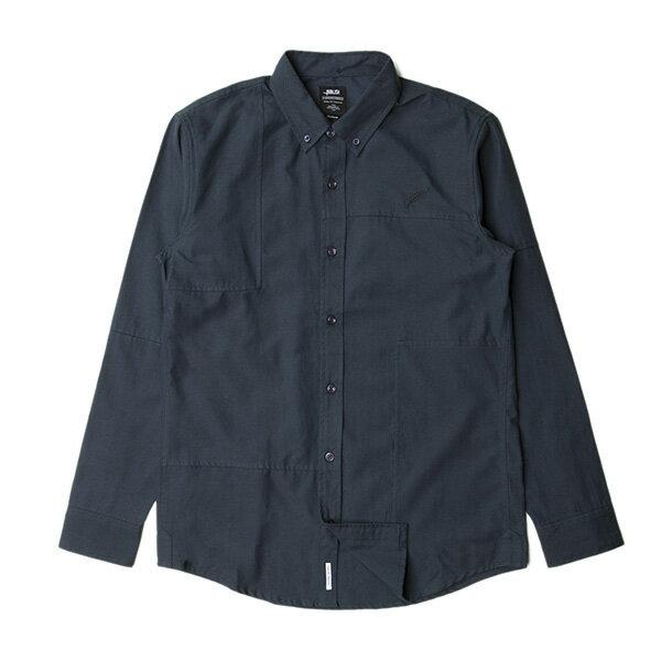 【EST】PUBLISH NEIL 素面 拼接 長袖 襯衫 藍 [PL-5317-086] S~L F0529 0
