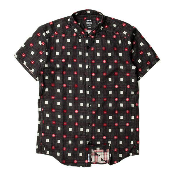 【EST】Publish Stinson 拚色 格紋 短袖 襯衫 黑 [PL-5320-002] S~L F0529 0
