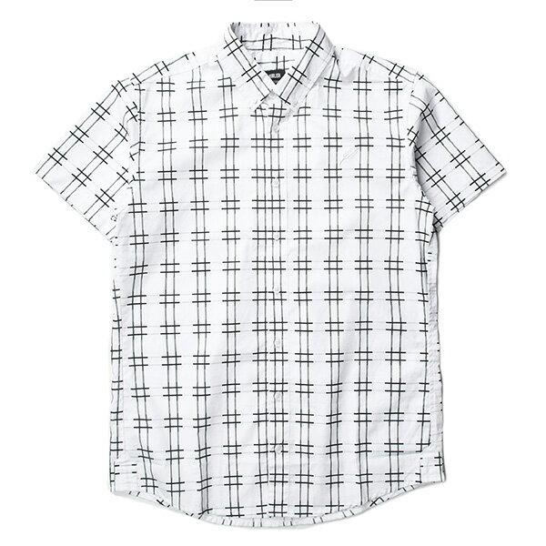 【EST】Publish Baclig 十字紋 格紋 短袖 襯衫 白 [PL-5324-001] S~L F0529 0