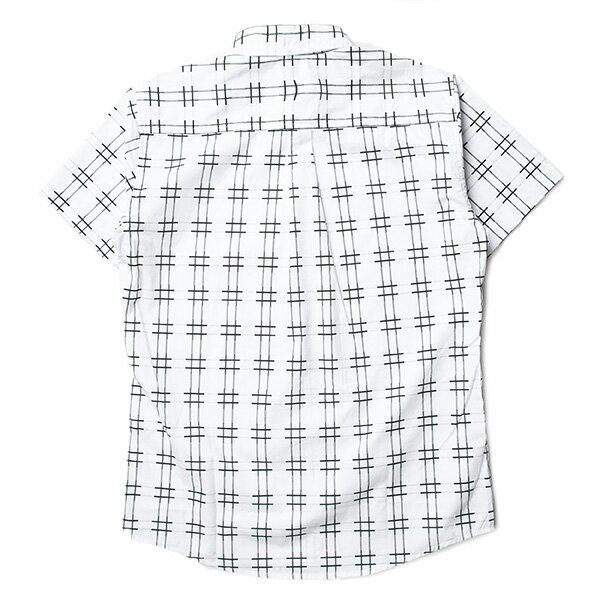【EST】Publish Baclig 十字紋 格紋 短袖 襯衫 白 [PL-5324-001] S~L F0529 1