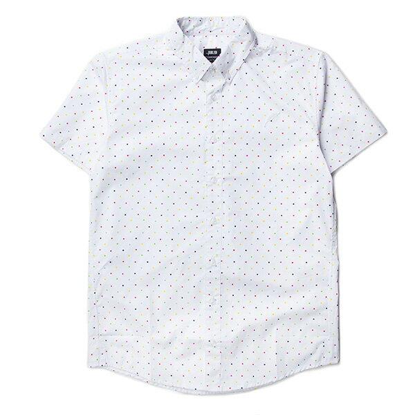 【EST】PUBLISH CLINT 彩色 點點 短袖 襯衫 白 [PL-5329-001] S~L F0529 0