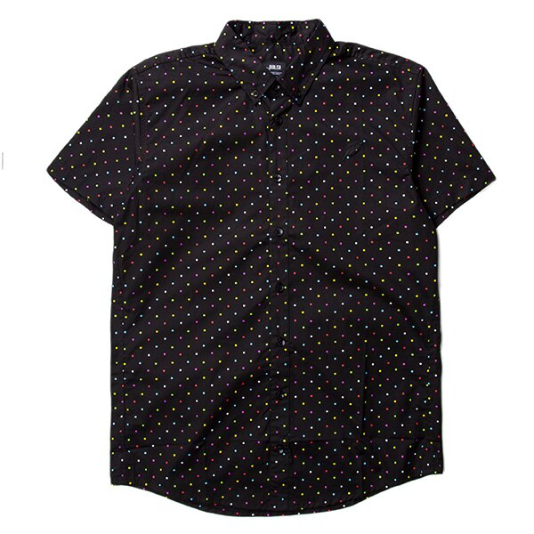 【EST】PUBLISH CLINT MULTI 彩色 點點 短袖 襯衫 黑 [PL-5329-XX2] S~L F0529 0