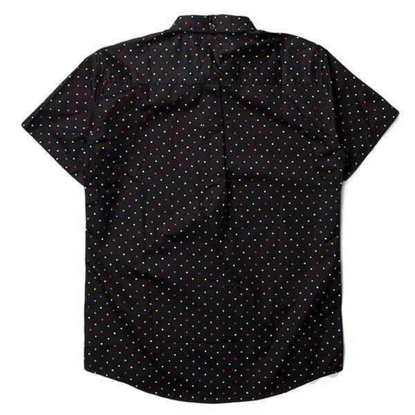 【EST】PUBLISH CLINT MULTI 彩色 點點 短袖 襯衫 黑 [PL-5329-XX2] S~L F0529 1