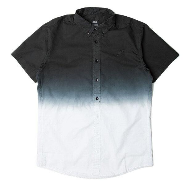 【EST】PUBLISH OMER 拚色 漸層 短袖 襯衫 黑白 [PL-5337-002] S~L F0529 0