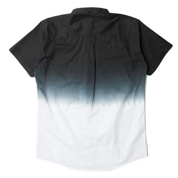 【EST】PUBLISH OMER 拚色 漸層 短袖 襯衫 黑白 [PL-5337-002] S~L F0529 1