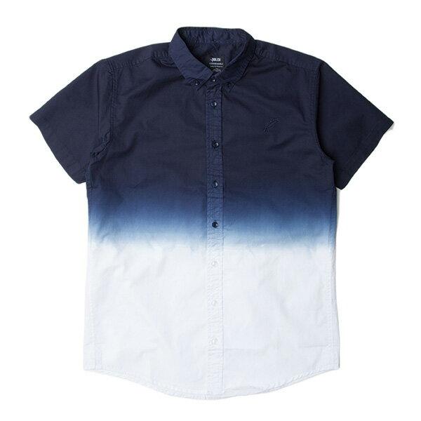 【EST】PUBLISH OMER 拚色 漸層 短袖 襯衫 藍白 [PL-5337-086] S~L F0529 0