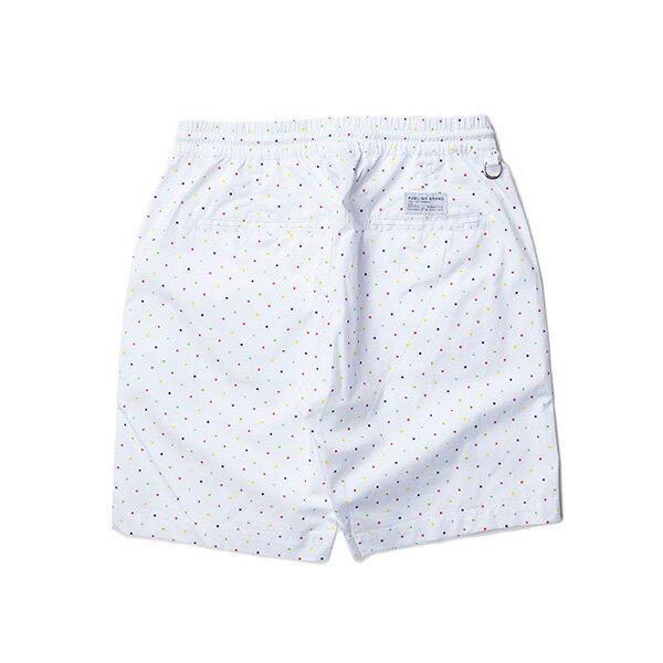 【EST】PUBLISH SIMON 彩色 點點 短褲 五分褲 白 [PL-5338-001] W28~34 F0529 1