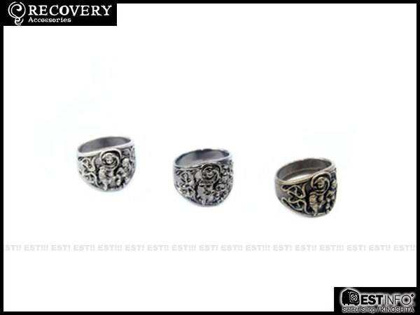 【EST】Recovery Doubt-Mariacross Necklace & Pray-Maria Ring 骷髏 宗教 戒指 [Rc-2036] 古銀/古銅/亮黑 D0306 0