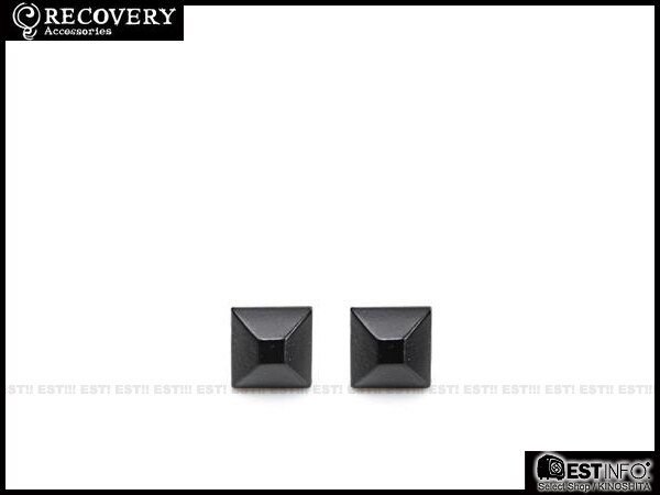 【EST】Recovery 2013-14 M-Rivets Earring 扁 鉚釘 耳環 [RC-4015] 銀黑/黑鎳/霧黑 E0514 0