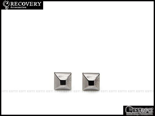 【EST】Recovery 2013-14 M-Rivets Earring 扁 鉚釘 耳環 [RC-4015] 銀黑/黑鎳/霧黑 E0514 1