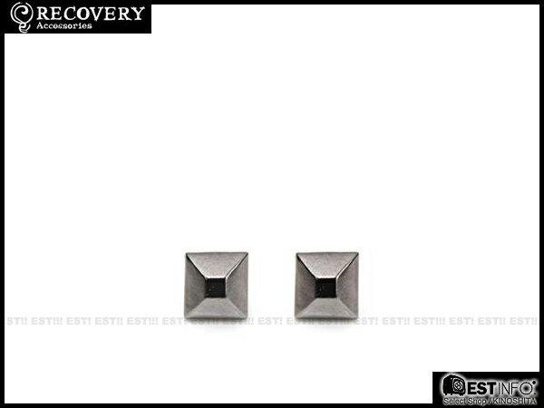 【EST】Recovery 2013-14 M-Rivets Earring 扁 鉚釘 耳環 [RC-4015] 銀黑/黑鎳/霧黑 E0514 2