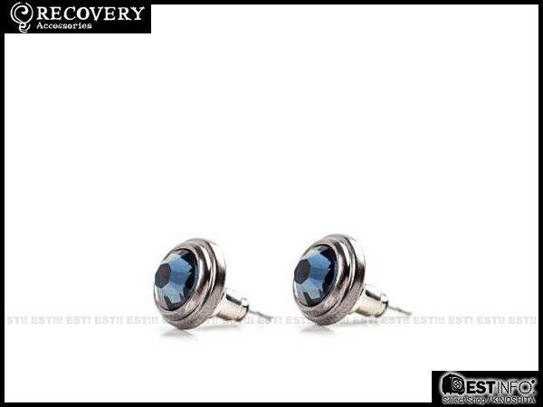 【EST】Recovery 2014 Diamond Earring Swarovski 施華洛 水鑽 耳環 [RC-4017] 黑/紅/藍 E0514 0