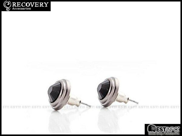 【EST】Recovery 2014 Diamond Earring Swarovski 施華洛 水鑽 耳環 [RC-4017] 黑/紅/藍 E0514 1