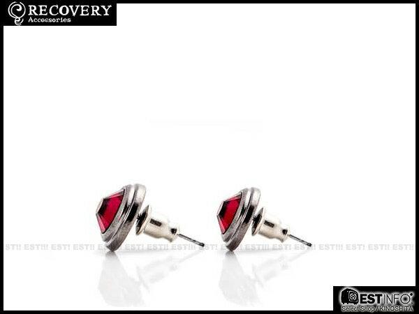 【EST】Recovery 2014 Diamond Earring Swarovski 施華洛 水鑽 耳環 [RC-4017] 黑/紅/藍 E0514 2