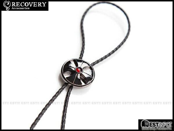 【EST】Recovery 2014 Cross Diamond Bolo Tie 十字鑽 保羅 領帶 項鍊 [RC-4018] 黑鎳紅/黑銀黑 E0514
