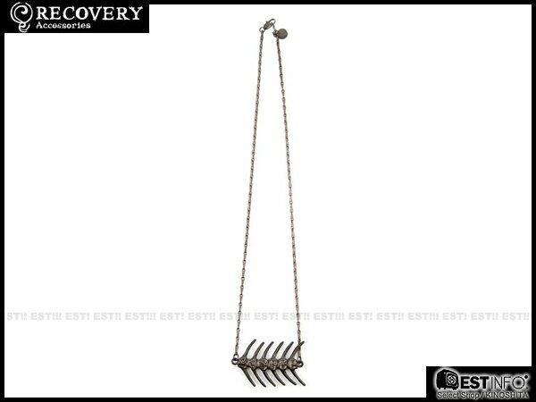 【EST】Recovery 2014 Fishbone Necklace 魚骨 項鍊 [Rc-4020] 亮銀/黑銀 E0514 0