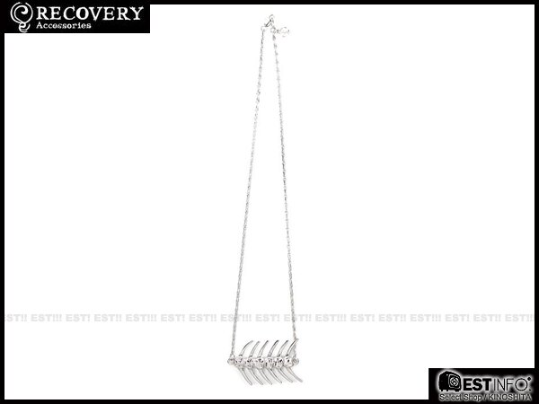 【EST】Recovery 2014 Fishbone Necklace 魚骨 項鍊 [Rc-4020] 亮銀/黑銀 E0514 1
