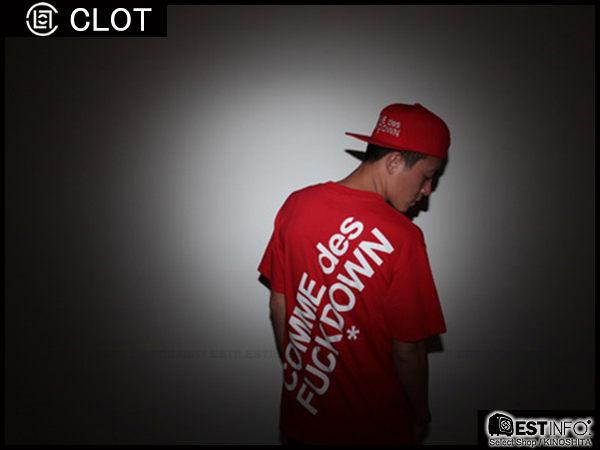 【EST】SSUR x CLOT COMME DES FUCKDOWN JACKET 川久保玲 棒球帽 SANPBACK 冠希 [SR-2013] 紅色 限定 D0715 0