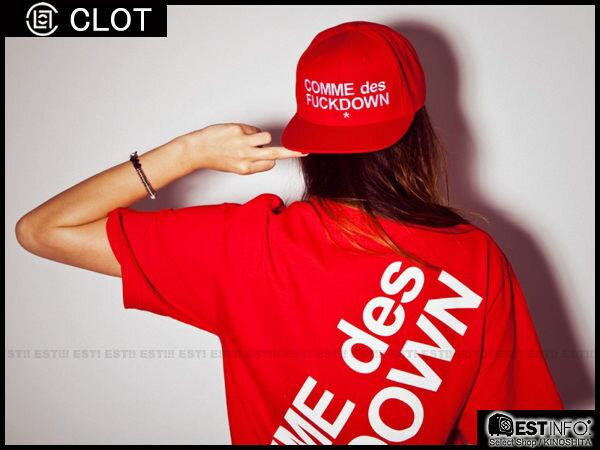 【EST】SSUR x CLOT COMME DES FUCKDOWN JACKET 川久保玲 棒球帽 SANPBACK 冠希 [SR-2013] 紅色 限定 D0715 1