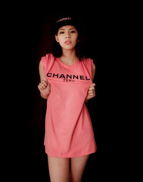 【EST】香港限定 CLOT x SSUR x Channel Zero 翻玩 香奈兒 Chanel 短TEE [SR-2044-066] 粉紅 黑 S~L D0228 0