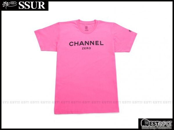 【EST】香港限定 CLOT x SSUR x Channel Zero 翻玩 香奈兒 Chanel 短TEE [SR-2044-066] 粉紅 黑 S~L D0228 1