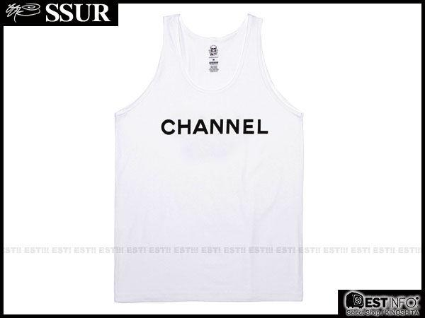 【EST】SSUR x CLOT - Channel Tank 經典 大字 LOGO 翻玩 香奈兒 Chanel 背心 冠希 [SR-2102] 白 S~L D0924 - 限時優惠好康折扣