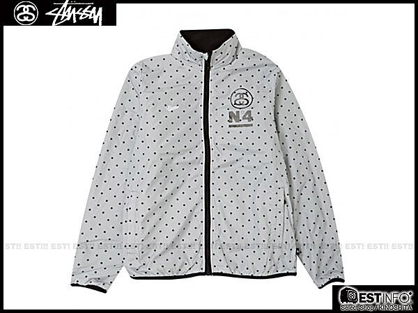 【EST】STUSSY 115161 FLEECE REV. MOCK 外套 [ST-4246] 藍/黑/灰 E1025 1