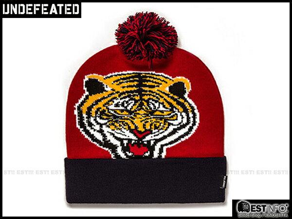 【EST】UNDEFEATED 2013 FW TIGER POM POM BEANIE 柵欄 老虎 針織 毛帽 [UF-3071] 紅 F0121 - 限時優惠好康折扣