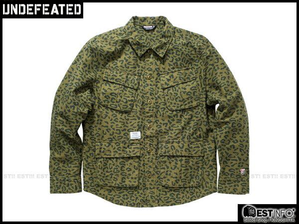 【EST】UNDEFEATED FIELD 豹紋 軍裝 大衣 外套 [UF-4118] 綠/黑 S~L E1001 0