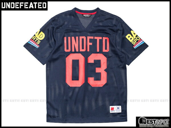 【EST】Undefeated Bad Jersey 球衣 短tee [Uf-5101] 黑/藍 Xs~L E1008 1